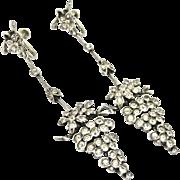 Edwardian Paste Sterling Earrings Large