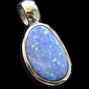 9K Opal Pendant Necklace
