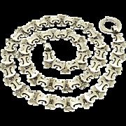 Victorian Bookchain Sterling Locket/Pendant Chain