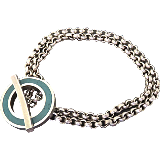 Sterling with Turquoise Inlay Bracelet