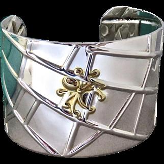 TIFFANY & CO. Sterling Spider + Web Bracelet Cuff