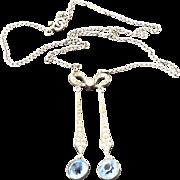 Edwardian Paste Sterling Necklace