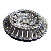 Clear Rhinestone Brooch/Pin