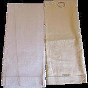 Large Irish Linen Damask Towels