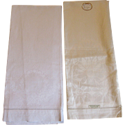Large Irish Linen Damask Towels