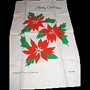 Large Linen Christmas Towel