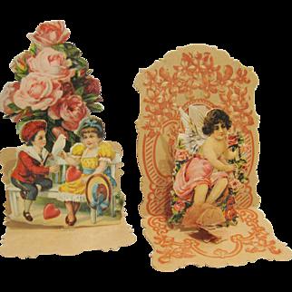 Pair of Victorian Pop-up Valentines