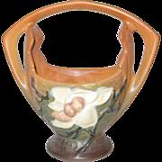 Roseville Pottery Magnolia Basket 383-7