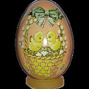 Set of Tin Litho Easter Eggs