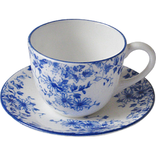 Shelley Miniature Dainty Blue Cup Saucer