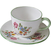"Shelley Miniature ""Dresden"" Cup Saucer"