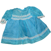 Blue Organdy Dress