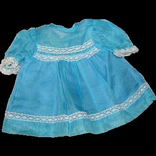 Blue Organdy Dress