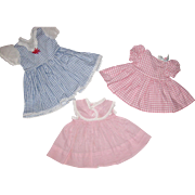 Three Doll Dresses