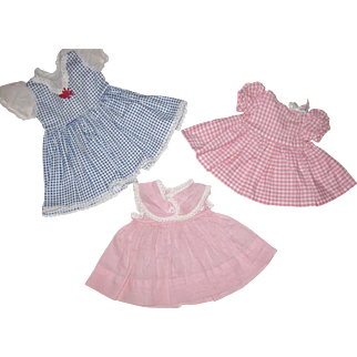 Three Doll Dresses