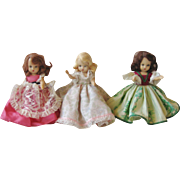 Trio of Nancy Ann Story Book Dolls