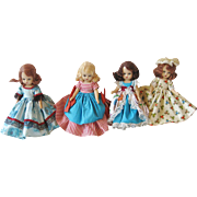 Four Nancy Ann StoryBook Dolls