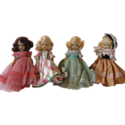 Four Nancy Ann Story Book Dolls