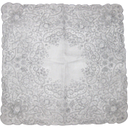 Stunning Embroidered Handkerchief