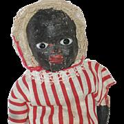 Papier Mache Black Doll