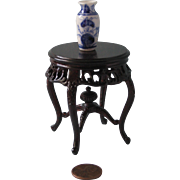 Miniature Round Table with Vase