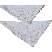 Pair of Marghab Handkerchiefs Vine Flower