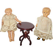 Pair Turtle Mark Celluloid Dolls