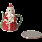 Miniature Dollhouse Santa Teapot