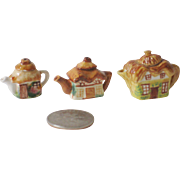 Trio of Tiny House Teapots by Valerie Casson