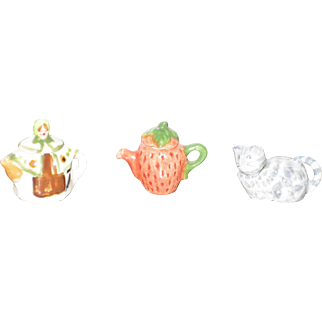 Miniature Dollhouse Teapots