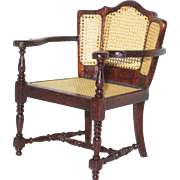 Miniature Artisan Caned Chair