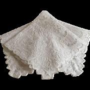Exquisite Embroidered Wedding Handkerchief
