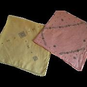Pair of Tea Table Tablecloths