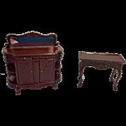 Miniature China Hutch & Side Table Bespaq