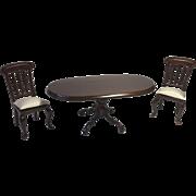 Miniature Dollhouse Table Chairs