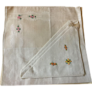 Pair of Linen Hankies in Original Presentation