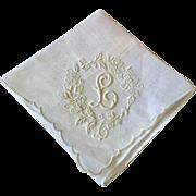 Monogrammed Handkerchief Madeira