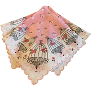 Pink Birdcage Handkerchief