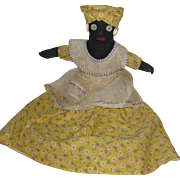Seated Black Rag Doll