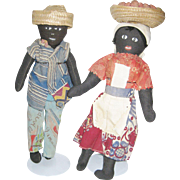 Pair of Vintage Jamaican Dolls