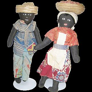 Pair of Vintage Jamaican Dolls