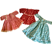 Trio of Doll Dresses for 18""