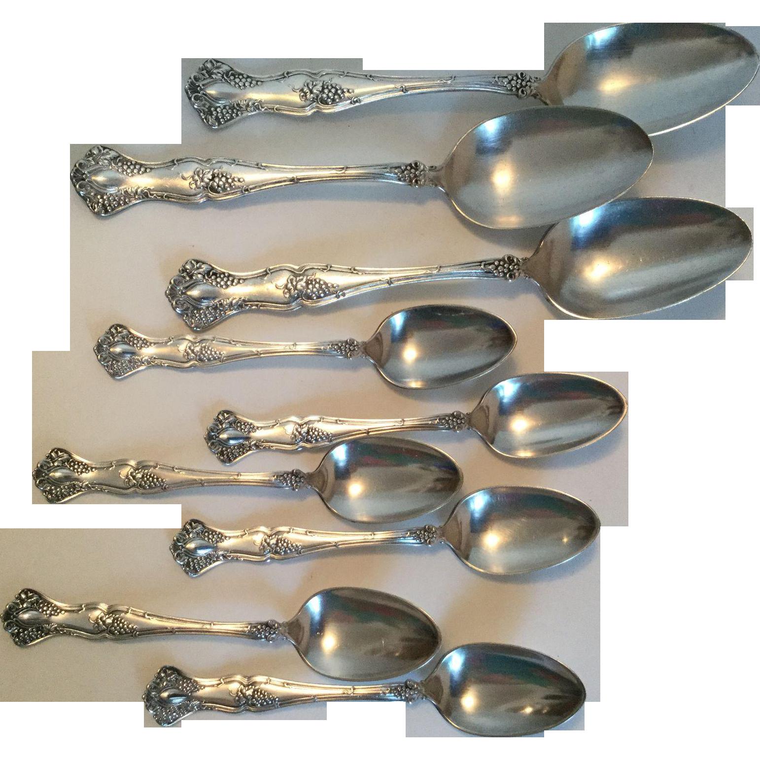1847 Rogers Bros. Vintage Grape Spoons
