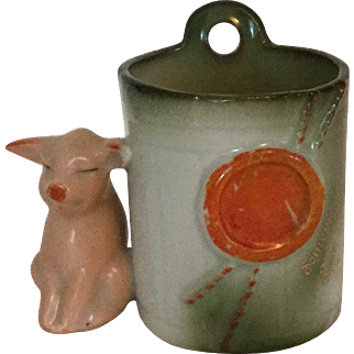 Pink Pigs German Fairing Toothpick Holder