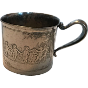Forbes Silver plate Baby Child's Cup Mug Cherubs Putties