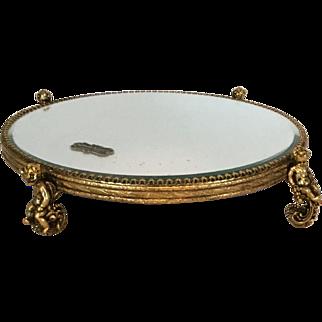 Stylebuilt Vanity Mirror Tray Plateau with Cherubs