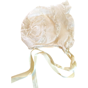 Delicate French Lace Baby Doll Bonnet Hat