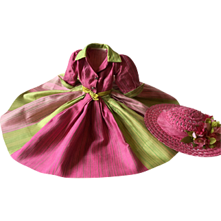 Madame Alexander Cissy 1957 Rare Rainbow Dress