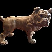 Vintage Scarce Cast Iron Hubley English Bulldog / Bull Dog  Bank Three Piece Construction