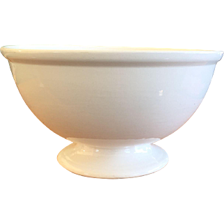 Classic Shape  White Ironstone Punch Bowl Knowles Taylor Knowles